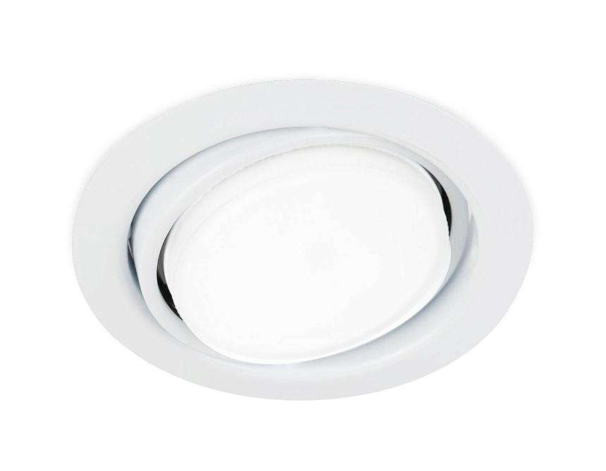 Встраиваемый потолочный точечный светильник GX53G103 WH белый GX53 D120*40